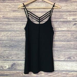 Suzy Shier Strappy Black Dressy Tank Top